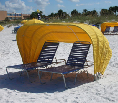 Cabana with Two Lounges