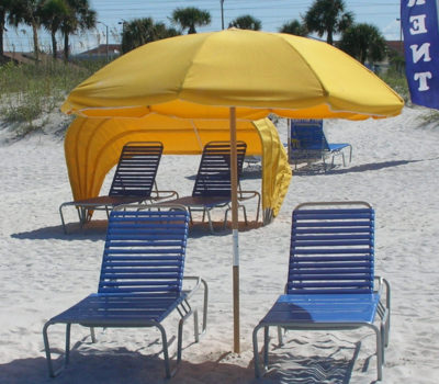 Umbrella with Two Lounges